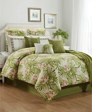 Hallmart Collectibles St. Croix 10-Pc. Floral Leaf Comforter Set - Queen - Green