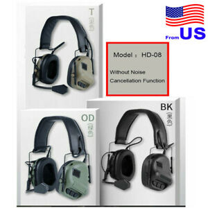 Tactical Headset Military Hunting Headphone Without Noise Cancellation Function