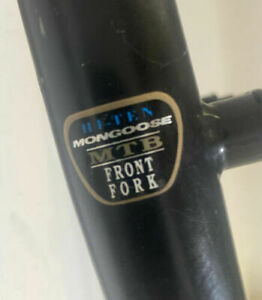 "26"" Old School MONGOOSE BMX Front Fork, Black, HF-TEN MTB, 1"" Thread"