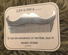 Moustache Beard Comb Gift For Him Saccos