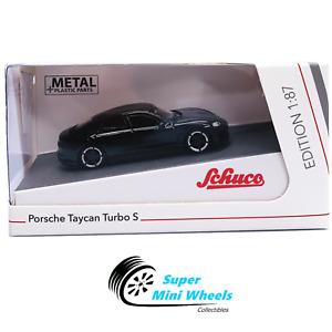 Schuco - 1:87 HO Scale - Porsche Taycan Turbo S (Black) - Diecast Model