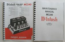 *USA* ULTIMATE MCINTOSH MC240 OWNER'S and MAINTENANCE MANUAL