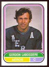 1975 76 OPC O PEE CHEE WHA Hockey #89 Gord Labossiere NM Houston Aeros Card