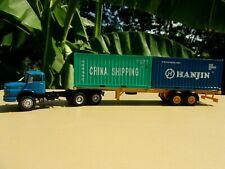 MERCEDES BENZ L 2624 camion semi remorque CHINA SHIPPING HANJIN 1/43 Neuf Boite