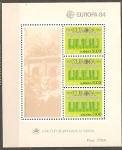 Portugal- Madeira: mint block, Europa - 25th years of CEPT, 1984, Mi# Bl-5, MNH
