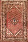 Vintage Paisley Botemir Hand-Knotted Area Rug 4x7 Oriental Traditional Carpet