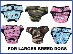 Large Breed Washable Dog Diaper Pet Pant Reusable Puppy Doggie Diapers