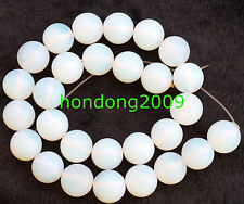 14MM white Opal Round loose Beads Gemstone 15inch long