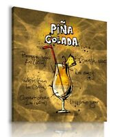 PINA COLADA COCKTAIL DRINK  View Canvas Wall Art Picture Large DR111  MATAGA .