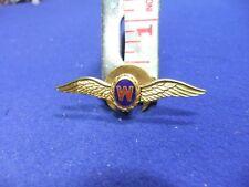 vtg badge wings aviation W sterling silver pilot crew works ww brevet aero
