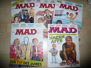 Comic, MAD,Heft: 201, 203, 204, 210, 241