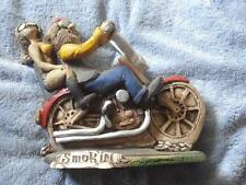 "VINTAGE 1992 SHADE TREE CREATIONS RESIN MOTORCYCLE FIGURINE ""SMOK'IN"""