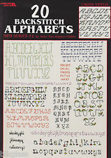 Cross Stitch Pattern ABCs 20 Backstitch Alphabets LeisureArts Childs Fancy Plain