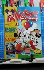 Disney Micky,  Mickey Maandblad Großbrand Nr. 11   1.Auflage  11.1987 Disneyana