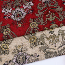 Red European Chenille Pillow Cushion Upholstery Material Jacquard Sofa Fabric
