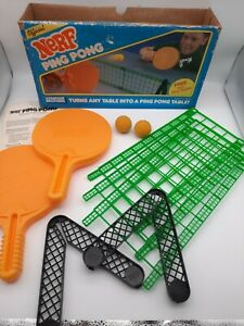 Vintage Parker Brothers NERF Ping Pong Table Game Complete 1987 Original Box