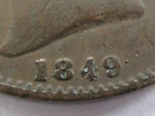 1849 Farthing GF 4/4 and stop after date