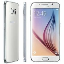 Samsung Galaxy S6 Sm-g920f Android Smartphone 32gb White Camera Mobile Locked O2
