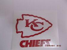 Kansas City Chiefs Decal for Colster,Rambler,Beer Mug, Window in Red Vinyl