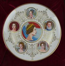 Queen Elizabeth Ii Silver Jubilee Commemorative Plate Six Queens of England