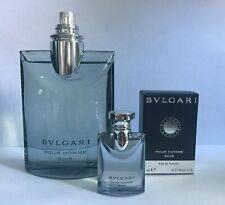Bvlgari Pour Homme Soir 3.4 oz New(Tester)with tester box & mini .17 oz with box