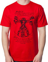 Marvel Comics Vitruvian Deadpool Mens T Shirt New
