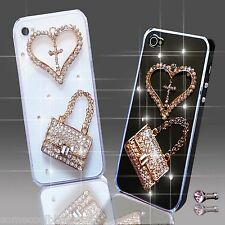 NEW 3D DELUX COOL BLING DIAMANTE HANDBAG CASE FOR VARIOUS MOBILE PHONES iPHONE