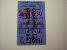 ABA NEW YORK NETS VS CAROLINA COUGARS TICKET STUB ISLAND GARDEN  N.Y. - 1/31/71