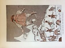 m17a ephemera 1920s book plate the elves pelted thaw with snow balls