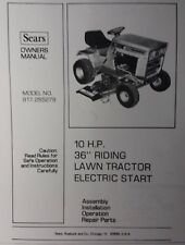 Sears Craftsman LT 10 /36 Riding Lawn & Garden Tractor Owner & Parts Manual