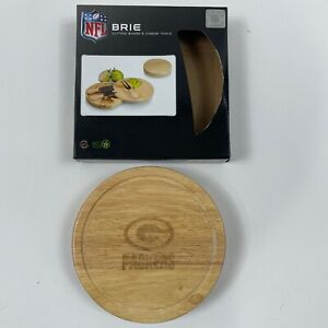 """BRIE Picnic Time NFL Green Bay Packers Brie Cheese Cutting Board w utensils 7.5"""""""
