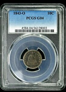 1843-O 10C Seated Liberty Dime PCGS G04 (8003) 99c NO RESERVE  Witter Coin