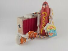 "RARE Vtg Frank E Footer 1983 Amtoy Plush Stuffed Super Hot Dog With Tag 12"" Tall"