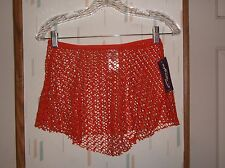 Capezio Mandarin Orange Open Weave Jacquard Nylon Knit Dance Skirt  Sz.M