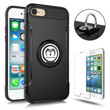 For iPhone 8 6S 7 iphone8 Plus 360° Protective Ring Case Cover+Screen Protector