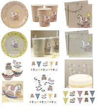 Baby ROCK A BYE BABY 1st Birthday Christening Shower Tableware Plates Cups Napks