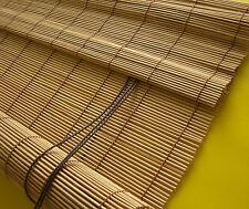 Bambusrollo Sichtschutz Bambus Schnurzug Rollo Holzrollo Kirschbaum 80 X 160