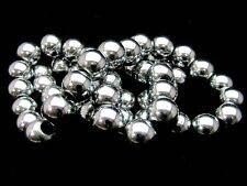 50 x 8mm Silver Plated Hematite - Shamballa Beads (1 Strand ) Gemstone F48