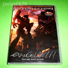 EVANGELION 1.11 YOU ARE (NOT) ALONE DVD NUEVO Y PRECINTADO ANIME