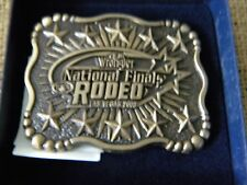 Montana Silversmiths BELT BUCKLE WRANGLER 45TH  NATIONAL FINALS RODEO 2003 PRCA
