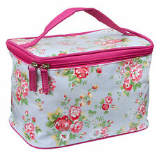 Royal Covent Garden Chic Vanity Make Up Cosmetics Bag Case ~ Oil Cloth Style