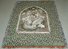 Willow Tree Christmas Nativity Tapestry Afghan Throw ~ Artist, Susan Lordi
