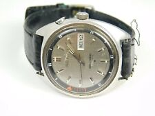 SEIKO 17 JEWELS BELL-MATIC MENS WATCH 37 MM BLACK/GRAY DIAL