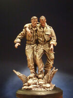 ██ Resin 1/16 120mm Wounded 2 Soldiers W/base Unpainted Unassembled 4054