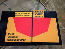 Do Not Overtake Turning Vehicle Truck Reflective 2 Metal Sign 400x400mm 3mmThick