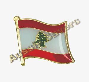 LEBANON FLAG HAT PIN / BADGE - BRAND NEW