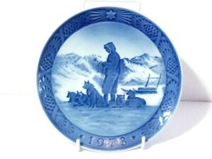 1978 Royal Copenhagen Christmas Plate Greenland Scenery