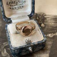 18ct Gold Signet Ring, Circa 1930's,Antique Art Deco 4.8 Grams, UK P