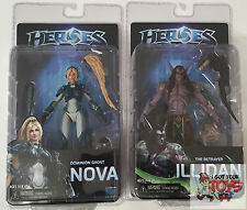 "NECA HEROES OF THE STORM SERIES 1 NOVA ILLIDAN Set HOTS 7"" INCH 2015 FIGURE"