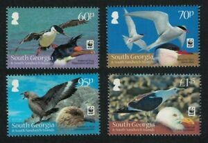 South Georgia endangered species WWF sea birds 2012 - mnh set